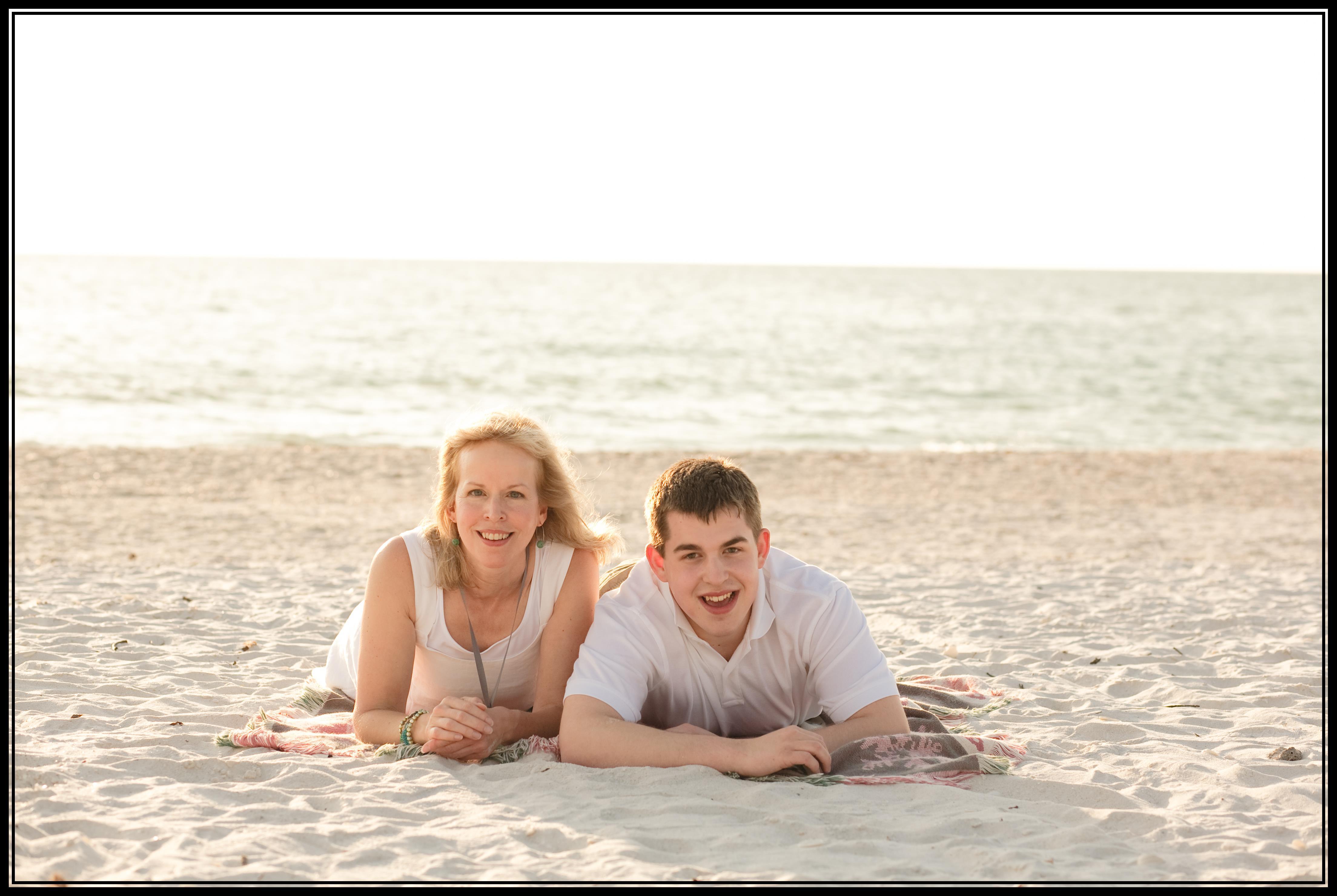Emily & Max Colson - beach (framed)