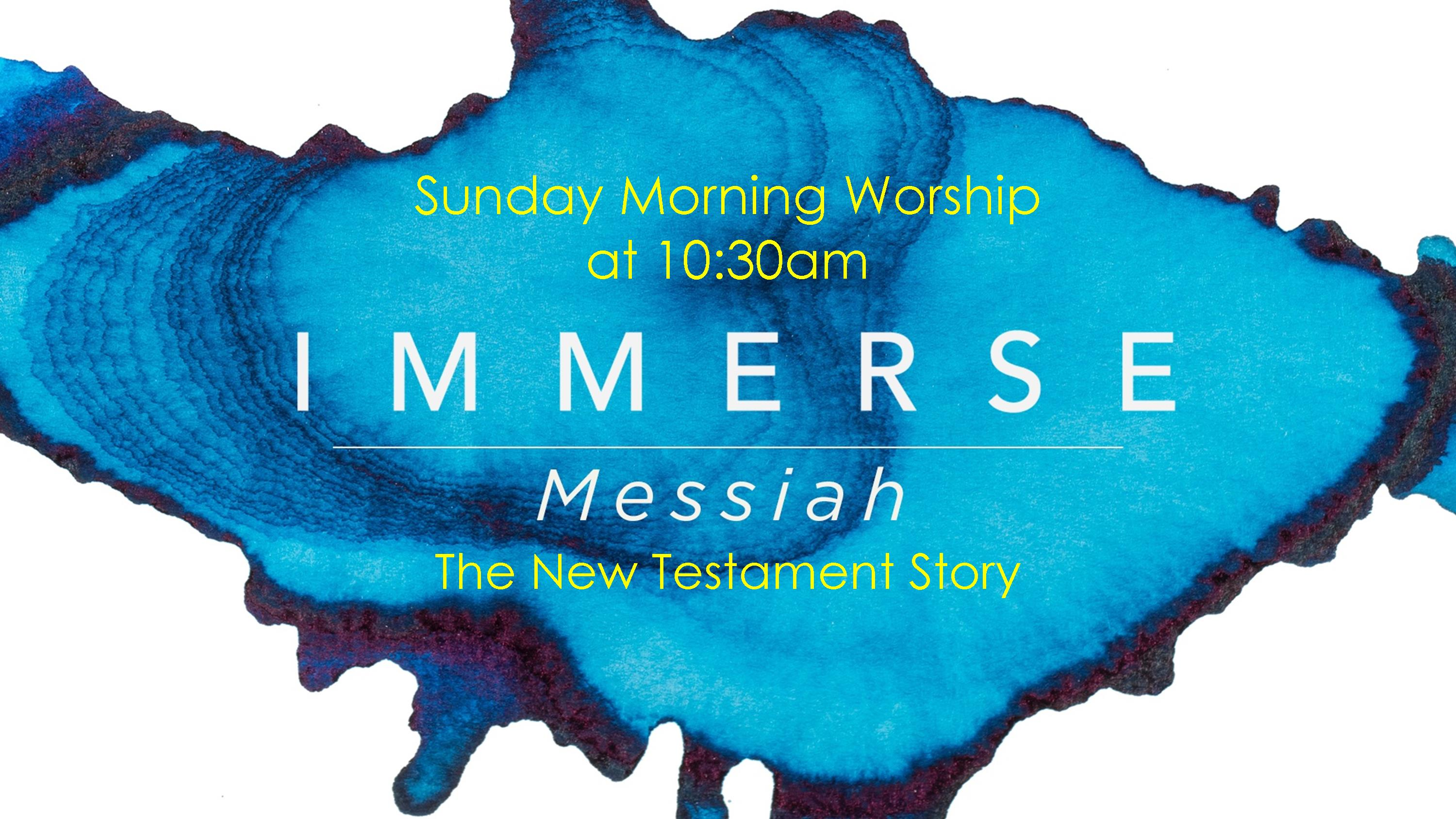 Immerse Messiah sermon series for website