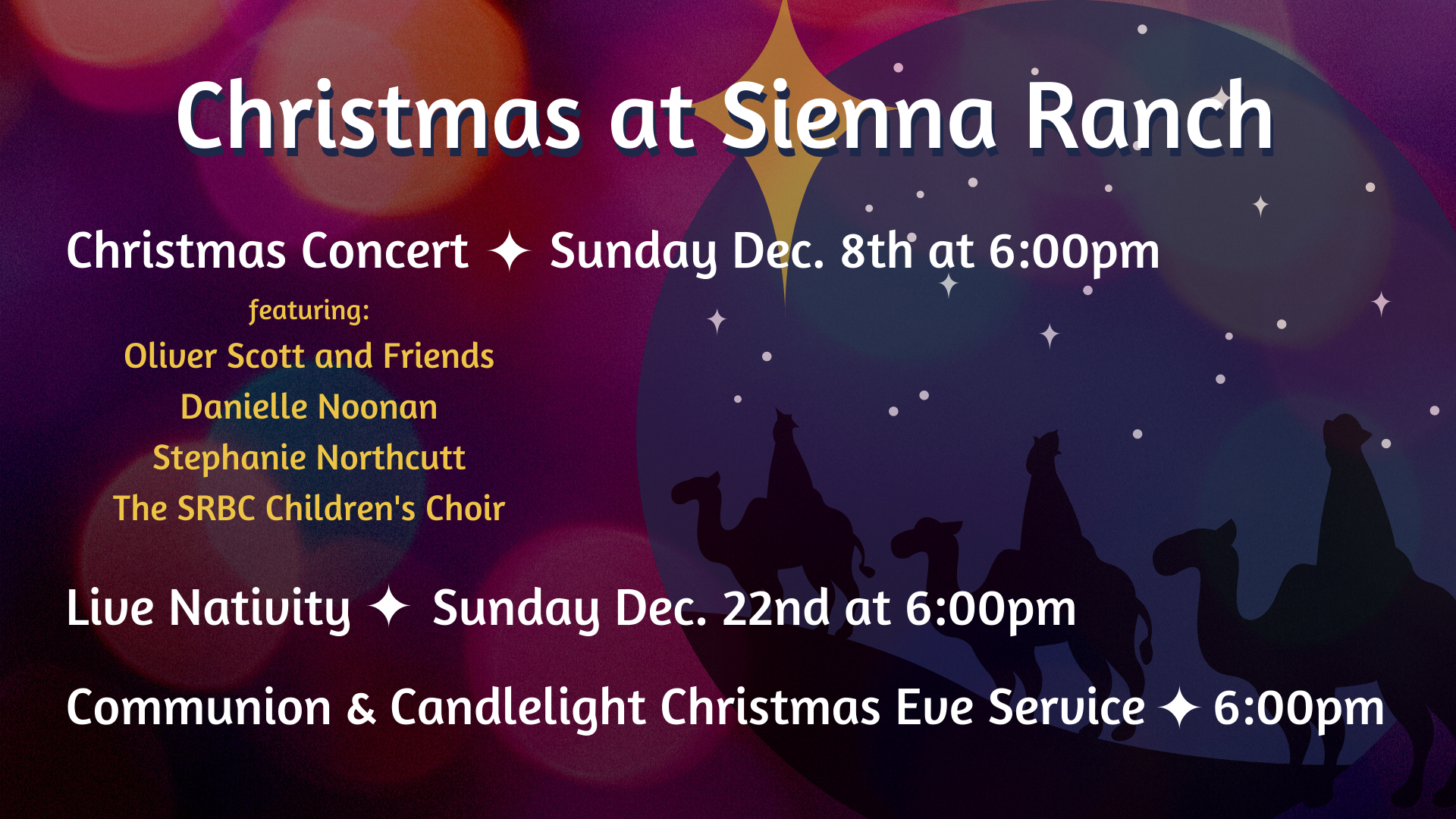 Christmas at Sienna Ranch w_ info
