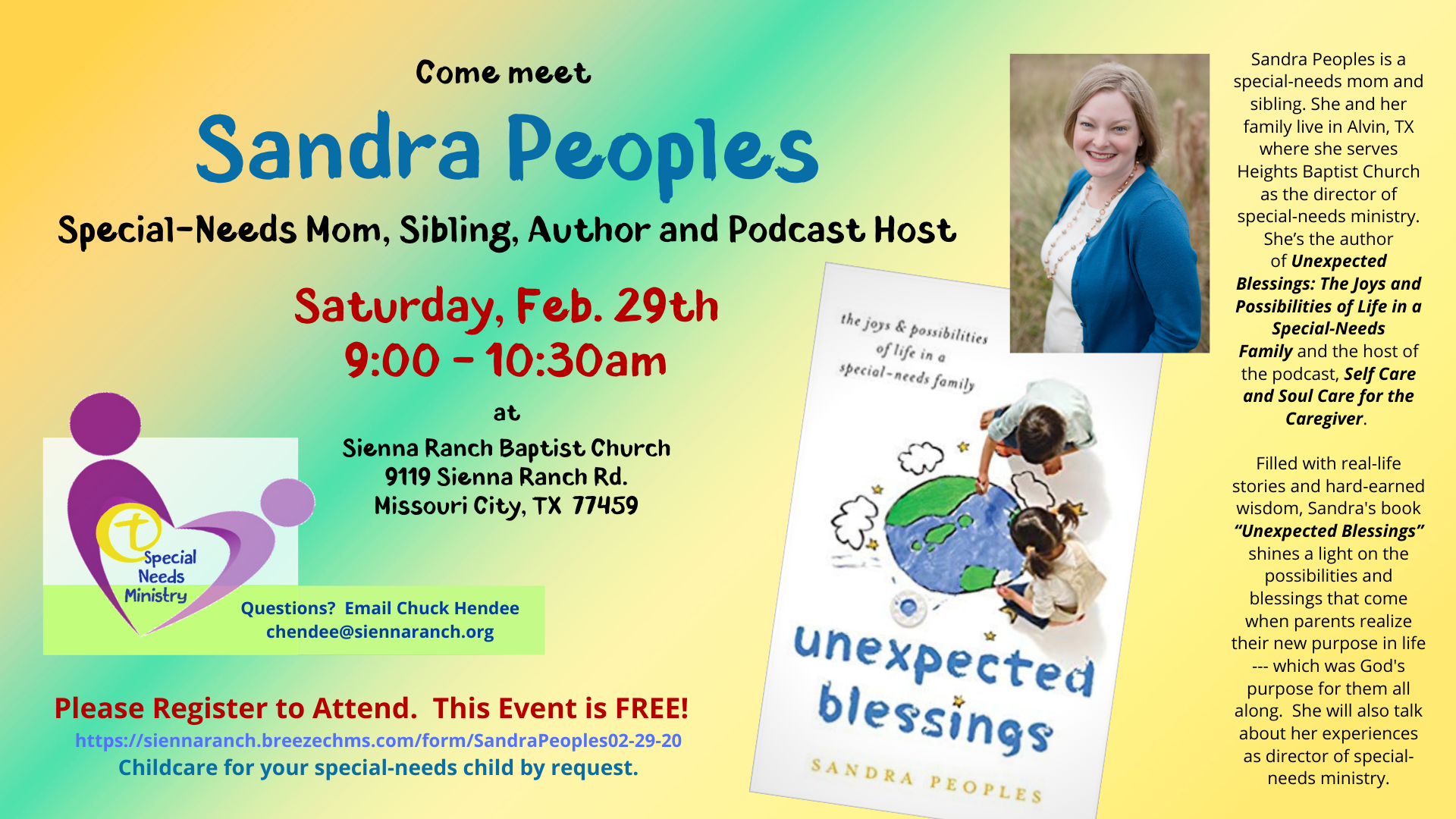 Special Needs Event with Sandra Peoples