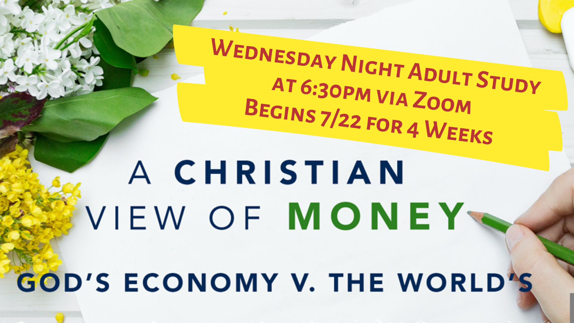 Christian View of $ announcement slide (1)