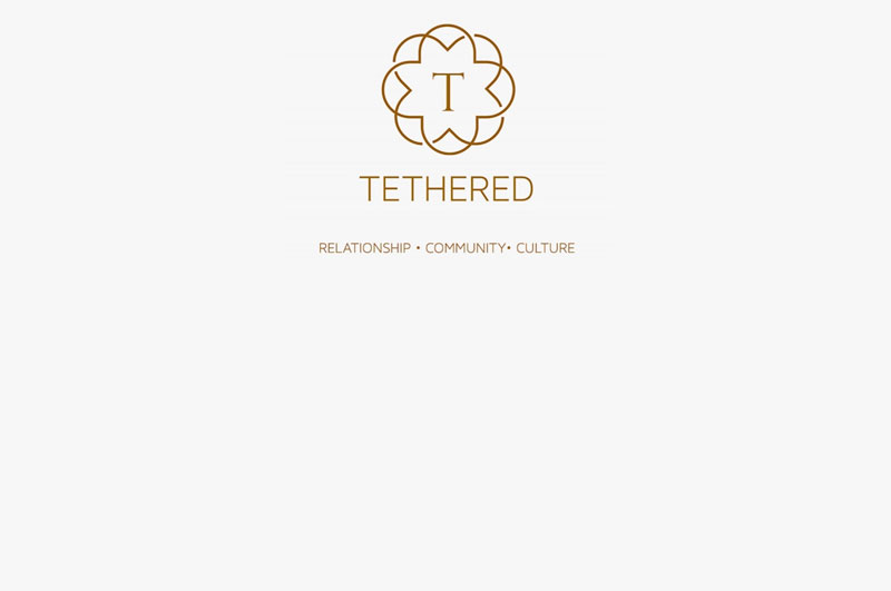 Tethered podcast background graphic
