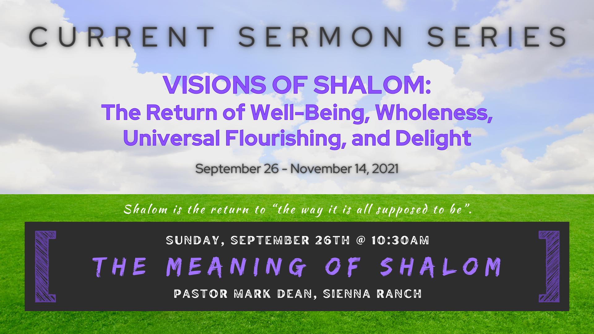 Shalom Sermon Series (!!!)